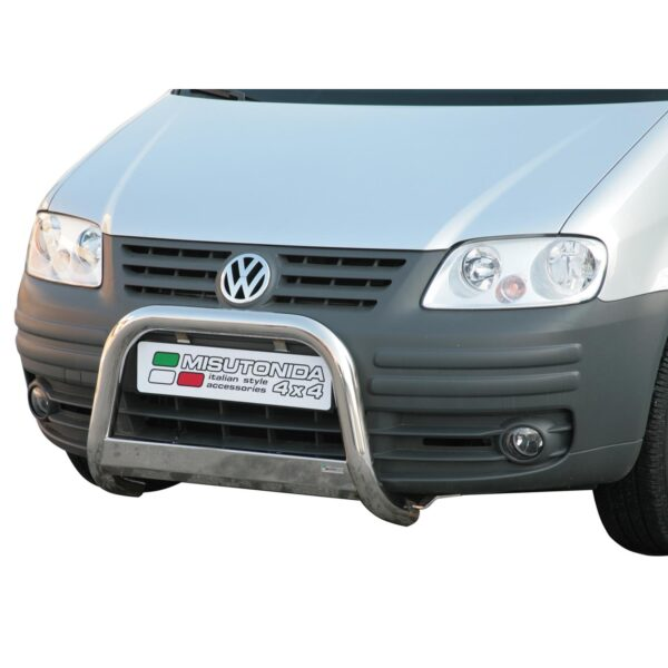 VW CADDY 2004-2011 MISUTONIDA EC APPROVED FRONT A-BAR - 63MM - STAINLESS FINISH