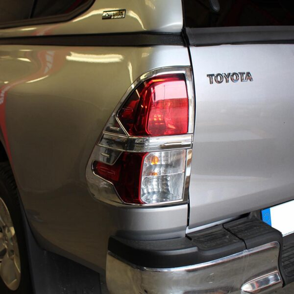 TOYOTA HILUX TAILLIGHT COVERS - CHROME