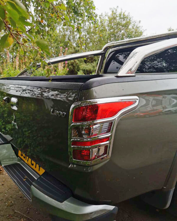 Mitsubishi L200 Tail Light Guards - Chrome