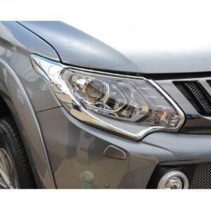 Mitsubishi L200 headlight guards - chrome