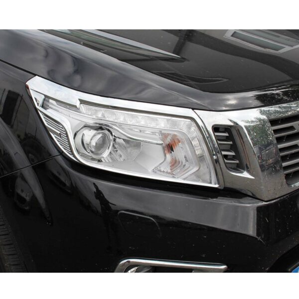 Nissan Navara NP300 Headlight Guards Chrome