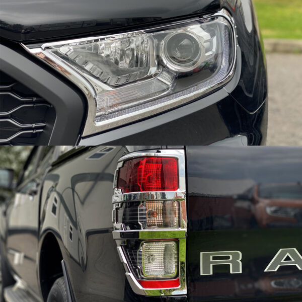 Ford Ranger - Head and tail light guard set - Chrome