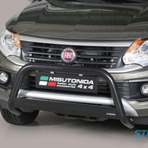 FIAT FULLBACK 2016 ON MISUTONIDA EU APPROVED FRONT BAR IN BLACK – 63MM