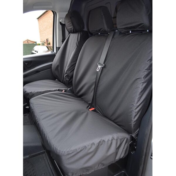 MERCEDES VITO DRIVER DOUBLE PASSENGER SEAT COVERS