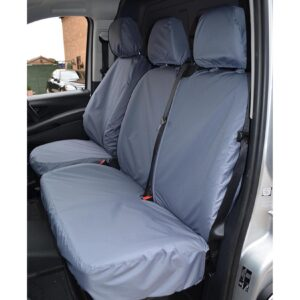 MERCEDES VITO 2015 ON FRONT TRIPLE TAILORED SEAT COVERS