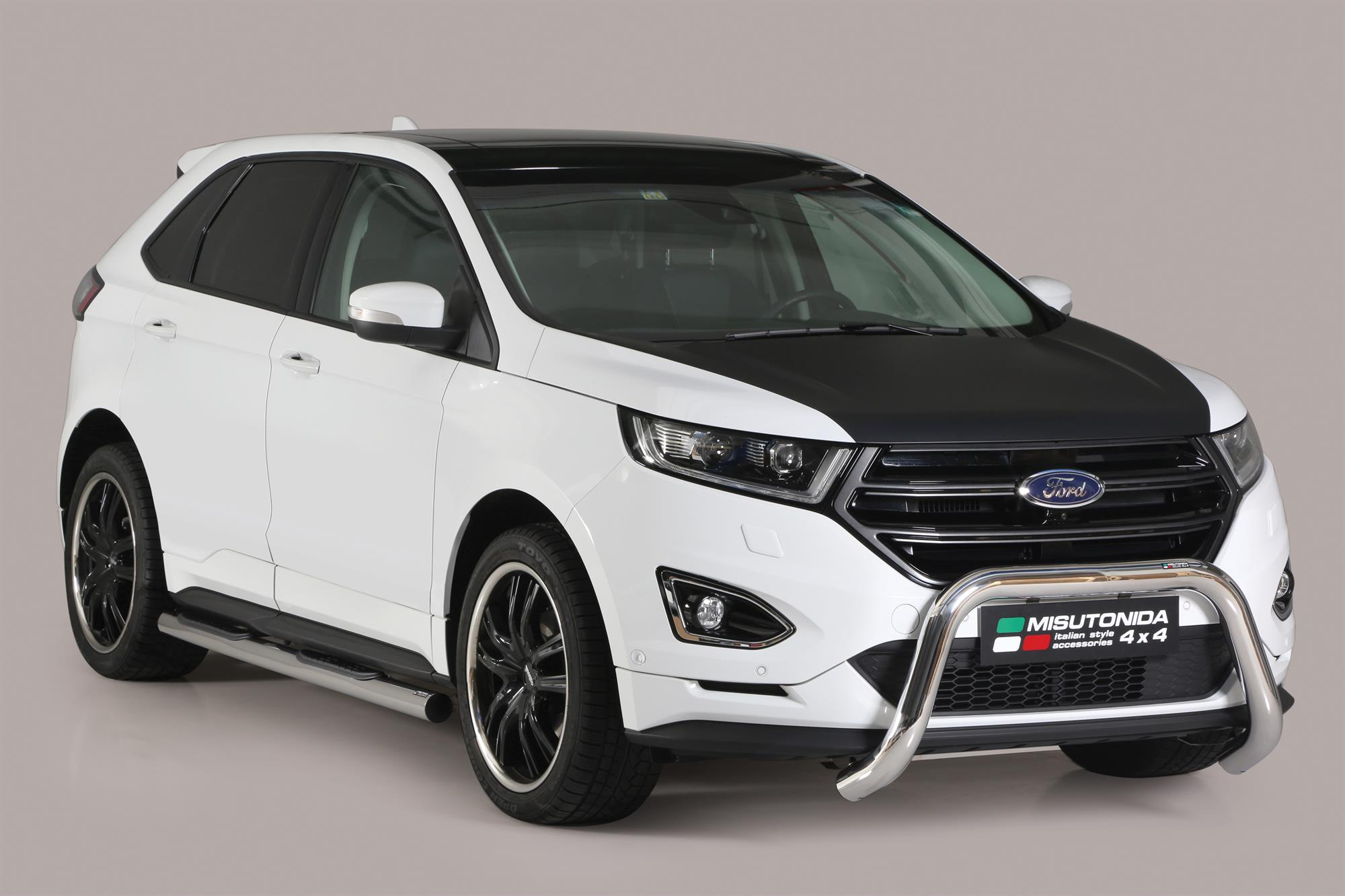 Ford edge 2017 on misutonida ec approved front bar 76mm stainless finish