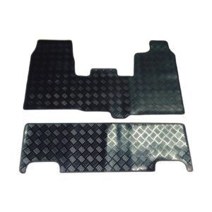 FORD TRANSIT CUSTOM 2013-2015 STX FRONT AND REAR TAILORED FIT RUBBER MATS IN BLACK