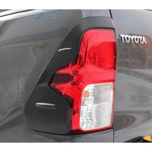 TOYOTA HILUX TAIL LIGHT COVERS - BLACK