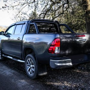 TOYOTA HILUX 2006-2015 ON DOUBLE CAB ARMADILLO ROLL BAR IN BLACK