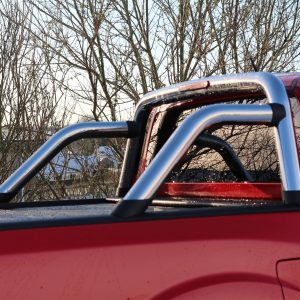 TOYOTA HILUX 2006-2015 ON DOUBLE CAB ARMADILLO ROLL BAR IN STAINLESS STEEL