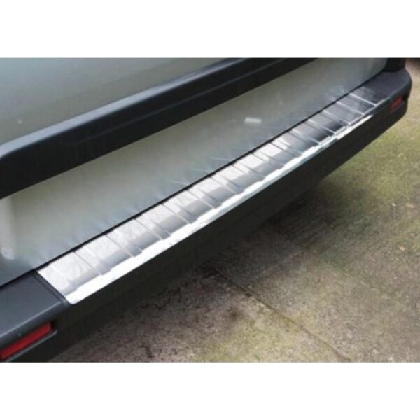 RENAULT TRAFIC AND VAUXHALL VIVARO 2014 ON STAINLESS STEEL REAR BUMPER PROTECTOR