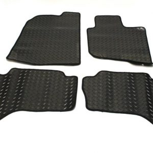 FIAT FULLBACK 2016 ON DOUBLE CAB STX TAILORED FIT RUBBER MATS 4 PCS IN BLACK