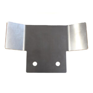 tow bar protection plate - silver
