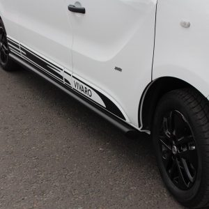 NISSAN PRIMASTAR 2001 ON BLACK SIDE BARS – ANGULAR TYPE – LONG WHEEL BASE – 70MM