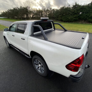 Toyota Hilux - Armadillo - Tonneau Cover - Roll Bar - Black