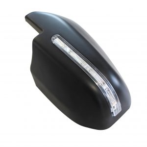TOYOTA HILUX MK8 2016 ON DOOR MIRROR COVERS IN BLACK WITH LED'S