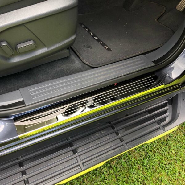 Ford Ranger Sill Covers Protectors - Chrome