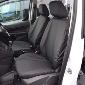 FORD TRANSIT CONNECT 2014 ON FRONT DRIVER AND SINGLE PASSENGER SEAT COVERS IN BLACK