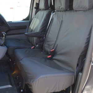 CITROEN DISPATCH 2016 ONWARDS BLACK SEAT COVERS – FRONT SET
