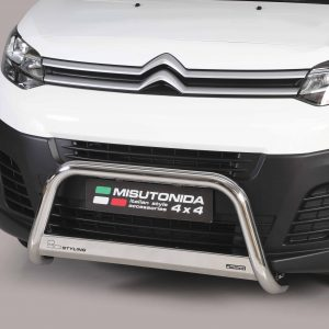 CITROEN DISPATCH 2016 ON MISUTONIDA EC APPROVED FRONT A-BAR – 63MM – STAINLESS FINISH