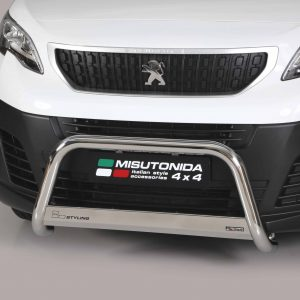 PEUGEOT EXPERT 2016 ON MISUTONIDA EC APPROVED FRONT A-BAR – 63MM – STAINLESS FINISH