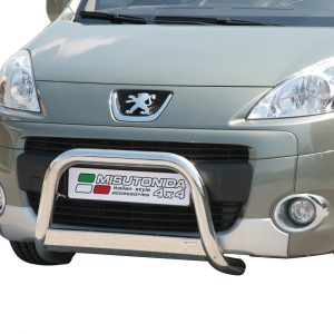 PEUGEOT PARTNER 2008-2014 MISUTONIDA EC APPROVED FRONT A-BAR – 63MM – STAINLESS FINISH