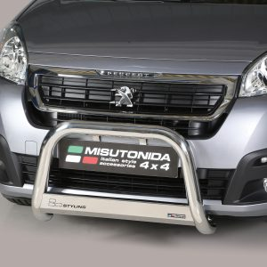PEUGEOT PARTNER 2015 ON MISUTONIDA EC APPROVED FRONT A-BAR – 63MM – STAINLESS FINISH