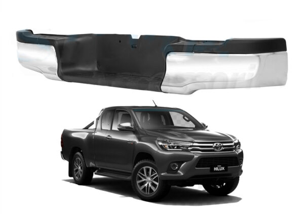 toyota hilux 2016 on rear bumper - stainless