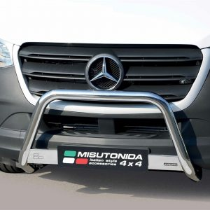 MERCEDES SPRINTER 2018 ON MISUTONIDA STAINLESS STEEL FRONT A-BAR – 63MM