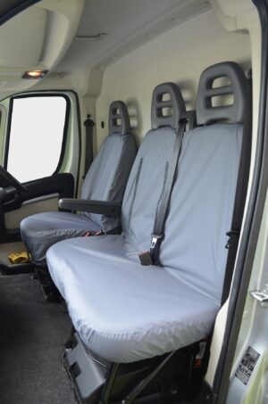Fiat Ducato Driver and Passenger Seat Covers Grey