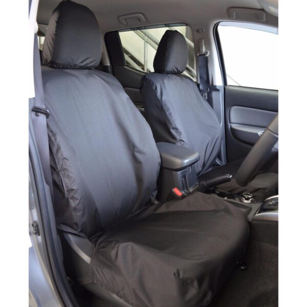 FIAT FULLBACK FRONT SEAT COVERS BLACK