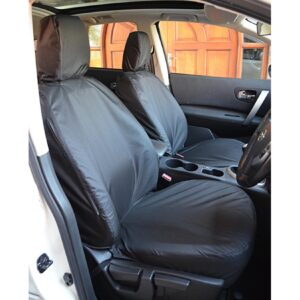 NISSAN QASHQAI 2007-2013 FRONT SEAT COVERS BLACK