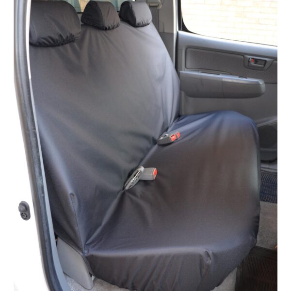 TOYOTA HILUX REAR SEAT COVERS - BLACK