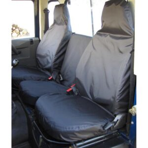LAND ROVER DEFENDER 90 / 110 SEAT COVERS BLACK