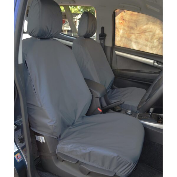 ISUZU D-MAX FRONT SEAT COVERS BLACK