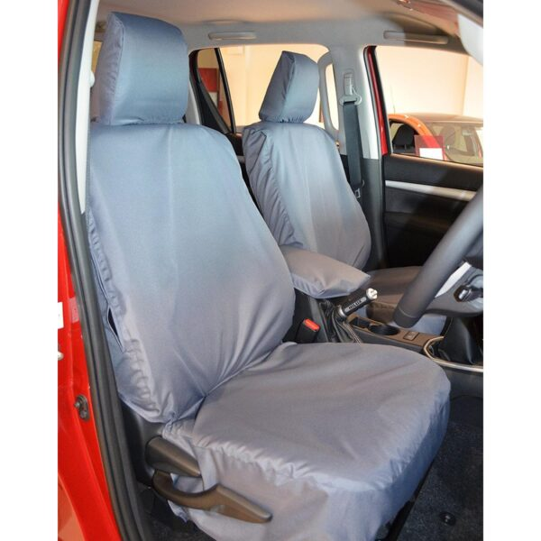 TOYOTA HILUX FRONT SEAT COVERS - GREY