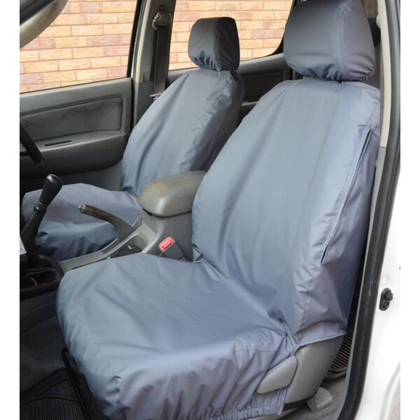 TOYOTA HILUX FRONT SEAT COVERS GREY