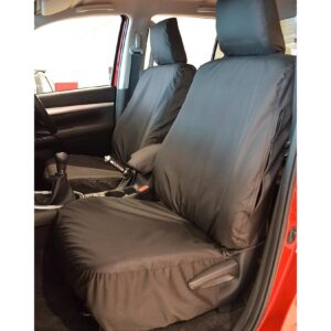 TOYOTA HILUX FRONT SEAT COVERS BLACK