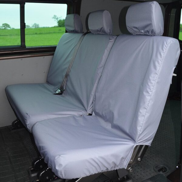 VW TRANSPORTER REAR BENCH SEAT COVERS GREY