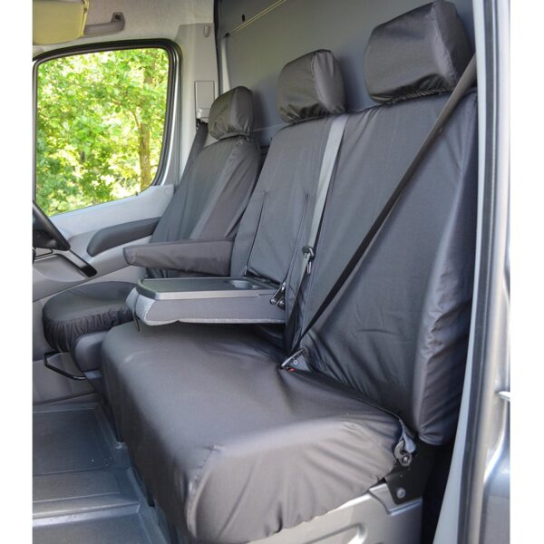 VOLKSWAGEN CRAFTER 2010-2017 FRONT SEAT COVERS BLACK