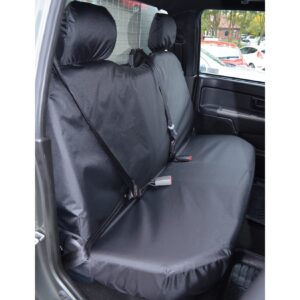 ISUZU D-MAX REAR SEAT COVERS BLACK