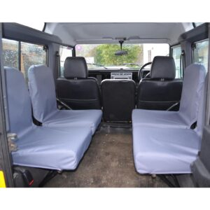 LAND ROVER DEFENDER 90 110 FOLDING SEAT COVERS GREY 2