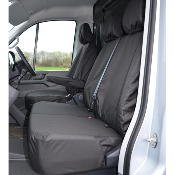 VOLKSWAGEN CRAFTER 2017 ON FRONT SEAT COVERS BLACK