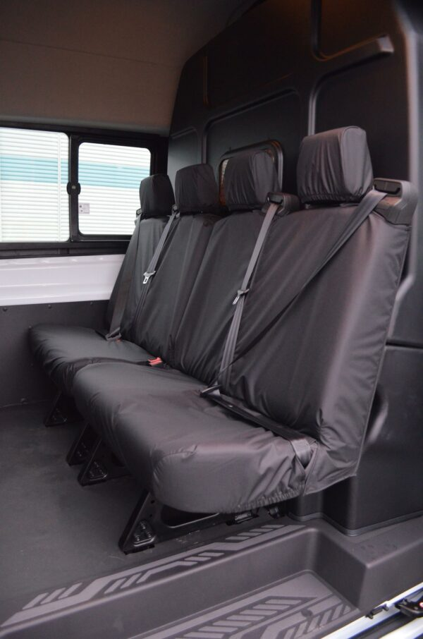 Ford Transit Double Cab Rear Seat Covers - Black