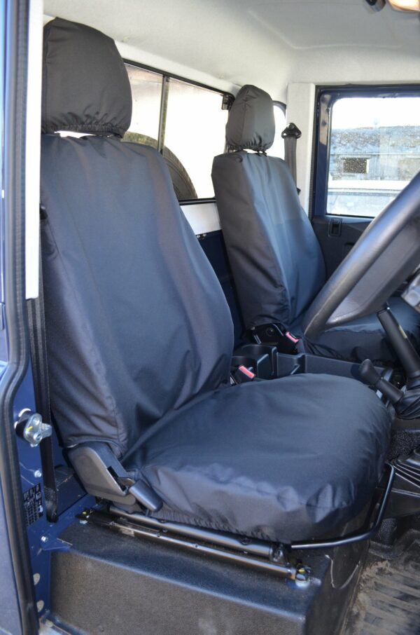 Land Rover Defender 2007-2015 Front Seat Covers - Black