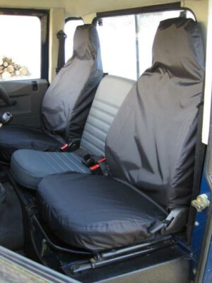 Land Rover Defender F90 / 100 Front Seats - Black