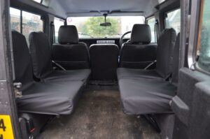 Land Rover Defender 90 / 110 Set of 4 Dicky Seat Covers-Black