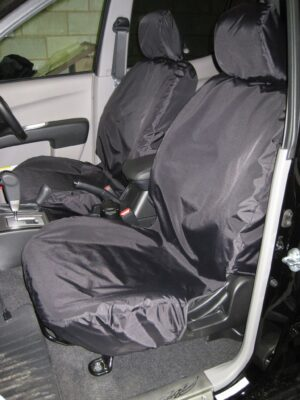 Mitsubishi l200 front seat covers - black
