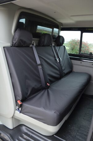 Nissan Primastar 2002-2014 crew cab rear seat covers - black