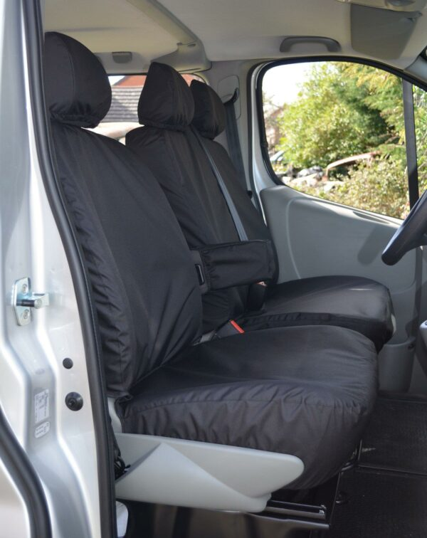Nissan Primastar Front Seat Covers-Black